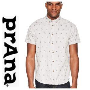prAna Mens Broderick Embroidery Shirt